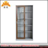 Governo d'acciaio del libro dell'armadietto dell'archivario del metallo del portello di vetro di scivolamento