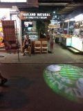 62mm statischer örtlich festgelegter Firmenzeichen-Effekt des Bild-Projektor-80W LED auf Straße