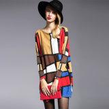 Drucken-Strickjacke-Pullover-Großverkauf der Überformatfrauen billig