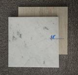 Aangepaste Natuurlijke Witte Beige Houten Marmeren Tegel