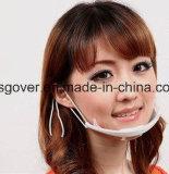 Masque protecteur transparent en plastique pour le service de traiteur