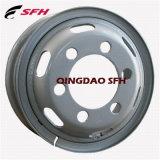 까만 색깔 타이어 7.00-16 (모형 5.50F-16)를 가진 강철 트럭 바퀴 변죽