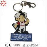 Key Ring를 가진 승진 Christmas Gift PVC Keychain