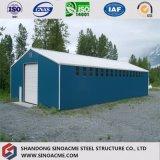 Almacén ligero prefabricado de la estructura de acero del estándar de ISO