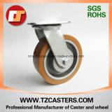 Schwenker-Fußrolle mit PU-Rad