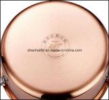 Wok chino 3 capas de materiales compuestos de cobre Wok