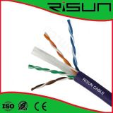 CE do cabo CAT6 ISO9001 do twisted pair de Unshield