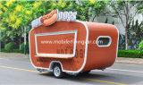 Guichet de glissement en verre de kiosque de vente de Kebab Van Strong Food avec faire cuire entièrement des matériels