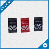 Fabricado en China la zapata de la etiqueta tejida personalizado