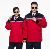 Workwear morno grosso removível de homens de alinhamento acolchoados acolchoados inverno