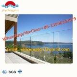 Effacer/Couleur en verre feuilleté trempé Deck main courante pour balcon