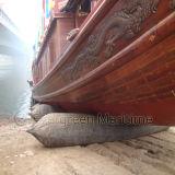 Salvamento marinho bolsas a ar de borracha aterradas do navio para o estaleiro de Indonésia