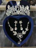 Acessórios nupciais do brinco da colar da coroa