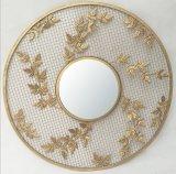 Espejo de la pared del metal de la dimensión de una variable de la flor del diseño de la manera de China