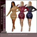 Mini vestiti ricamati sexy da promenade di sera del randello del cocktail dei Sequins (TOSM1089)