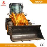 Kima20車輪のローダーのセリウムApproced 2トンの農業機械