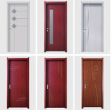 Whosale nuevo diseño de las puertas a ras de la puerta de WPC