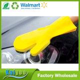 Luva natural do látex da almofada de limpeza & da limpeza de escova da esponja para o agregado familiar ou o carro