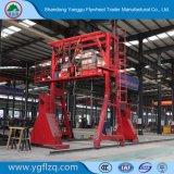 3 eixo de 50 ton de capacidade/transporte de contentores de transporte de carga/estrado semi reboque com trava giratória/China famoso Brand