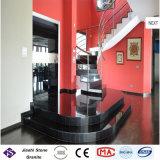 Hochwertiger absoluter schwarzer Granit-Innenjobsteps und Treppe