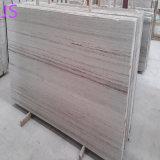 Naturales pulidas losas de mármol blanco de los materiales de construcción
