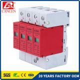 parascintille solare del sistema di CC delle unità SPD PV della protezione di impulso di 80ka 3p+N