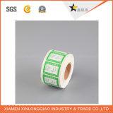 Vinyle Code-barres thermique papier étiquette imprimée Service d'impression autocollant de l'imprimante