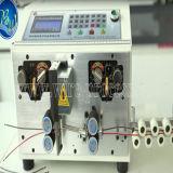 Máquina computarizada da estaca e de descascamento do fio com fios dobro