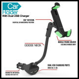 Two USB Charger를 가진 조정가능한 Size Car Phone Holder Mount
