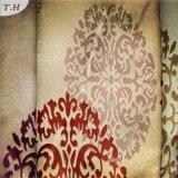 2016 100% telas feitas malha poliéster usadas para cortinas especialmente com teste padrão elegante (FBC30003)