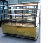 Vertikaler Kuchen-Bäckerei-Kühler-Gebäck-Bildschirmanzeige-Schaukasten mit Luxuxart