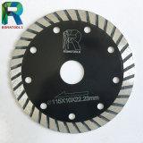 Segmento de turbo a ras de la hoja de sierra de diamante con reforzar la protección de los dientes
