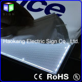 Moldura de alumínio para placa de menu com placa de guia de luz