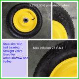 rotella pneumatica 3.25 3.00 - 8 con una gomma delle 3.00-8 carriole