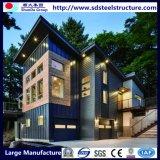Assemableの耐久の容易な現代贅沢なプレハブの鋼鉄別荘