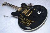Guitarra elétrica oca do rei Coroa do Bb do jazz no preto (JH-11)
