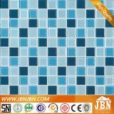 Prix bon marché de couleur bleue pour la piscine en mosaïque de verre (G423001)
