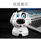 Het creatieve Mini Leuke Notitieboekje van de Spreker Bluetooth van de Robot van de Hond van de Papaver Draadloze, de Spreker van Tfcard Bluetooth