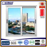 La ventana de desplazamiento de cristal de aluminio de Filipinas del precio en polvo cubrió