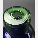 Blaues Flaschenglas-Wasser-Rauch-Gewehr-Öl-Wiederanlauf-Gefäß