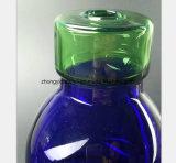 Tube bleu de reprise de pétrole de canon de fumée de l'eau de verre à bouteilles