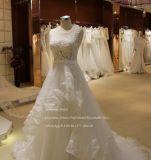 Fundo Rufflle Aoliweiya Ilusão Top vestido de casamento