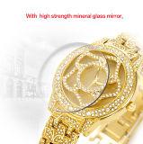 Belbi Luxuxbatterie-Gold der blumen-Kleid-Frauen-Schmucksache-Uhr-Japan-PC21 Bewegungs-Accell/377A,  Farbe des Silber-zwei, damit Sie wählen