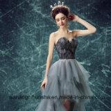 愛は女性ニースの黒い羽のイブニング・ドレスのウェディングドレスの花嫁衣装よろしいです