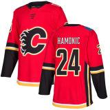 Barato 2018 Nova Marca Ad Mens Sade Kids Calgary chamas 24 Travis Hamonic 27 Dougie Hamilton 85 Josh Healey Oliver Kylington Vermelho camisolas de hóquei personalizada
