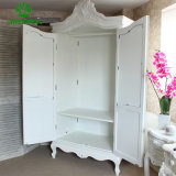 أثر قديم [فرنش] خشبيّة يرتدي خزانة مع مرآة