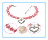2 de Charme van de Juwelen van de Hond van de Kraag van het Huisdier van de Parels van de Hond van de Halsband van het Huisdier van /Pink van rijen