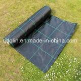 Couvre-tapis noir de tissu de contrôle de Weed stipe plumeux de couleur avec le traitement UV