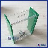 Acrylnächstenliebe-Stimmzettel-Ansammlungs-Kasten - Spitze-Behälter - mit Verschluss