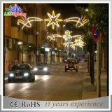 Luz do motivo do Natal de Pólo da rua, decoração comercial do Natal